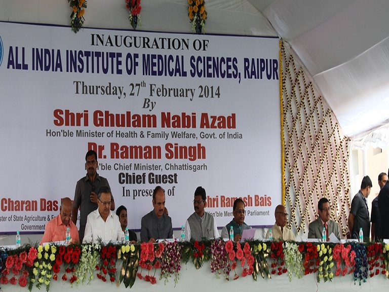 AIIMS Raipur-The dignitaries on the dais