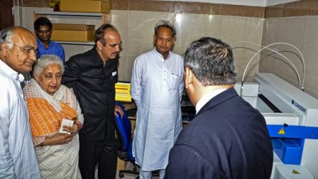 AIIMS Jodhpur Inauguration-Visiting the Laboratory